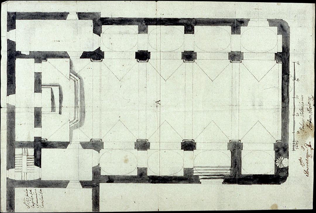 Planta 1791 | Adecuación de la Iglesia Nuestra Señora del Socorro de Peñíscola (Castellón)