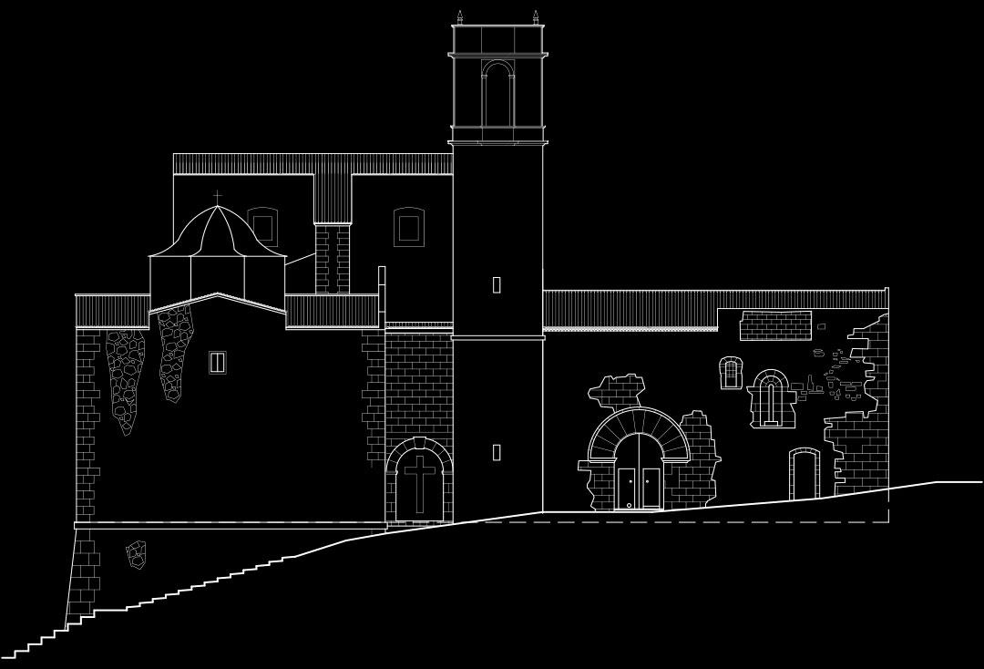 Alzado | Adecuación de la Iglesia Nuestra Señora del Socorro de Peñíscola (Castellón)