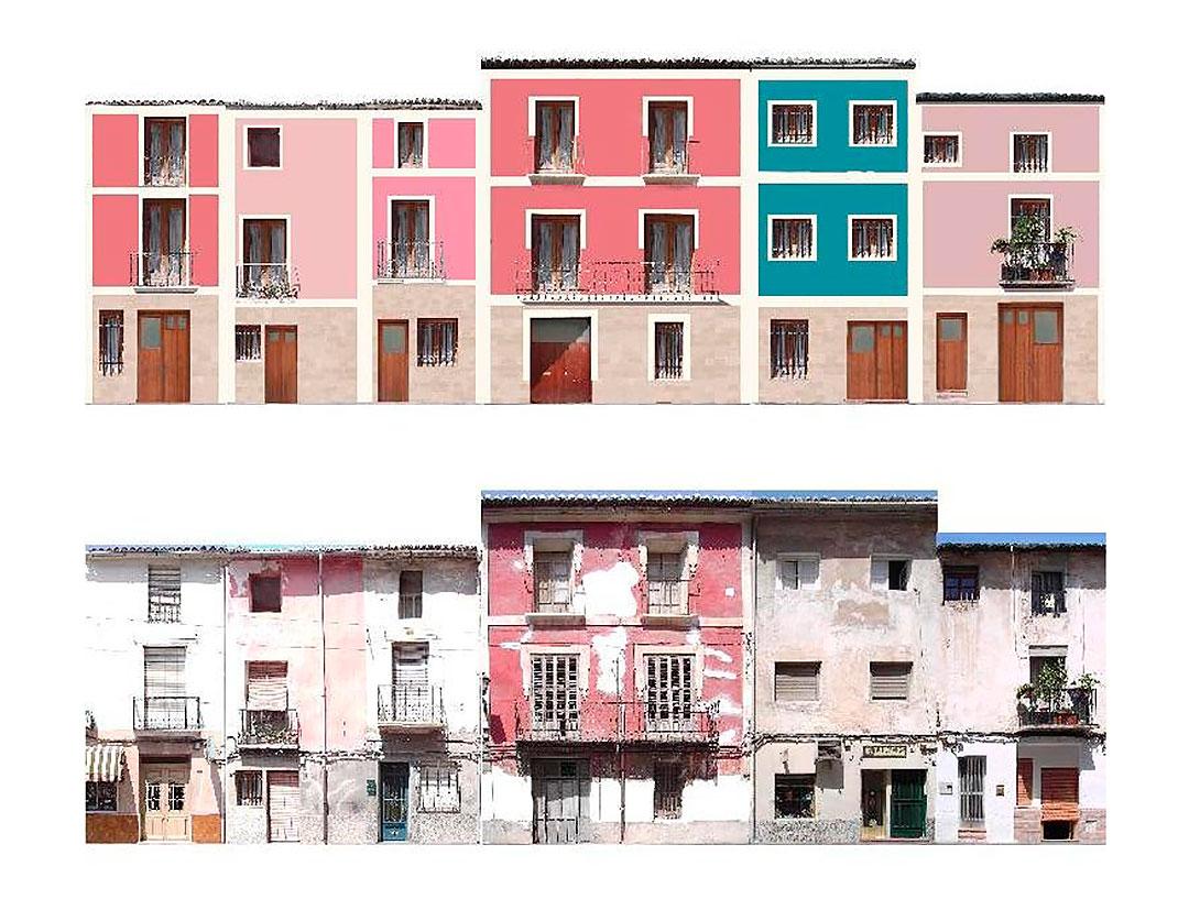 Propuesta restauración fachada | Restauración del entorno urbano del Santuario de la Santa Faz
