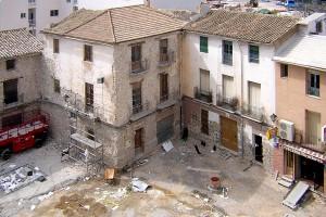 Trabajos en revestimientos | Restauración del entorno urbano del Santuario de la Santa Faz