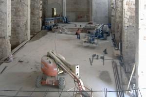 Ejecución pavimentos interiores 2 | Restauración litúrgica de la Iglesia de Sant Francesc de Xátiva (Valencia)