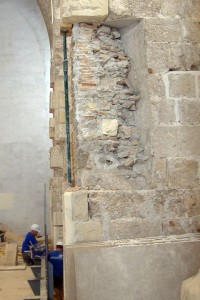 Reparación contrafuertes 1 | Restauración litúrgica de la Iglesia de Sant Francesc de Xátiva (Valencia)