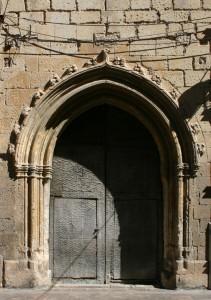 Portada lateral estado previo | Restauración litúrgica de la Iglesia de Sant Francesc de Xátiva (Valencia)