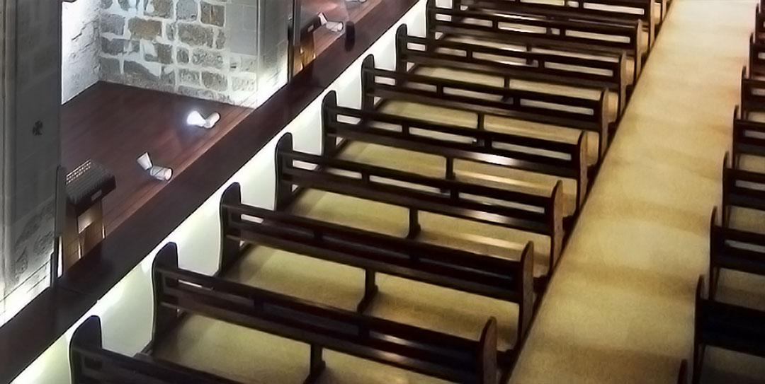 Detalle pavimentos interiores | Restauración litúrgica de la Iglesia de Sant Francesc de Xátiva (Valencia)