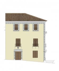 Alzado este, estado proyecto | Rehabilitación del Centro Olivense, Casa de la Cultura de Oliva