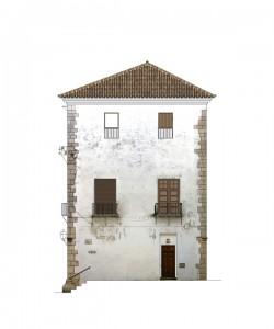 Alzado norte, estado previo | Rehabilitación del Centro Olivense, Casa de la Cultura de Oliva