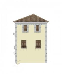 Alzado norte, estado proyecto | Rehabilitación del Centro Olivense, Casa de la Cultura de Oliva