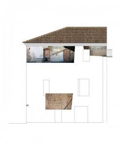 Alzado oeste, estado previo | Rehabilitación del Centro Olivense, Casa de la Cultura de Oliva