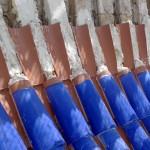 Retejado de cúpula con tejas vidriadas artesanales