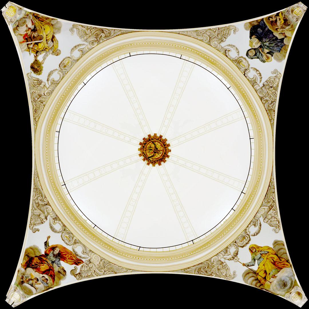 Vista interior de la cúpula restaurada de la Iglesia de San Bartolomé de Benicarló