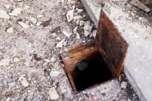 Red de saneamiento de pluviales en mal estado