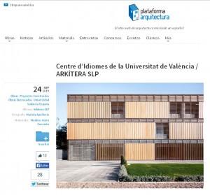 Centre d'Idiomes publicado en Archdaily Hispanoamérica y México