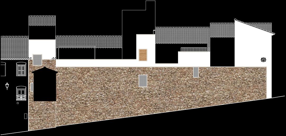 Restauración mampostería calle Arco | Mejora urbanística sector histórico Arco Nevero Pozo de Nieve Yátova