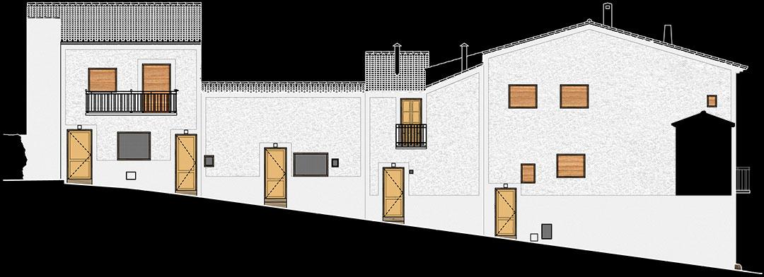 Restauración fachadas calle Arco | Mejora urbanística sector histórico Arco Nevero Pozo de Nieve Yátova