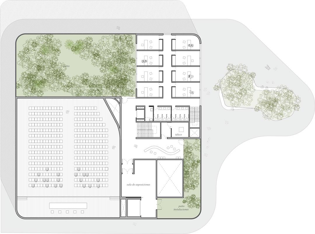 Planta baja | Nuevo proyecto de edificio `Multiusos´ al Campus de Altea de la Universidad Miguel Hernandez de Elche, Alicante