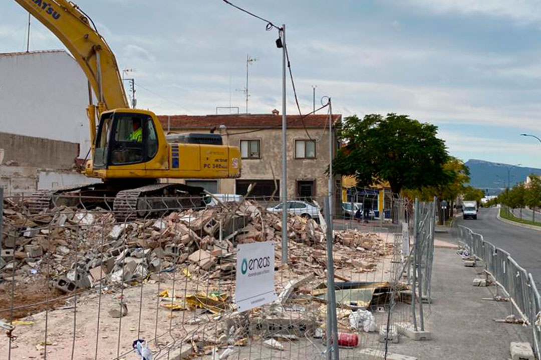 Finalización de las obras de demolición en Ibi (Alicante)
